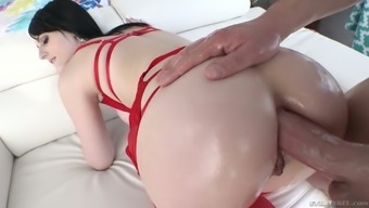 deepthroat BJ appointment turns out with the use of sticky analfuck by using flawed Alex Harper