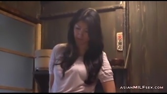 Milf Petting Herself Having Height Upon the Floor With the cooking
