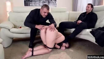 Akasha Cullen is packed such as a surprise for her a couple of Doms