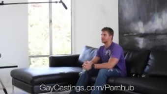 Hi-def GayCastings - Strong south texas lad fucked on chosing sofa