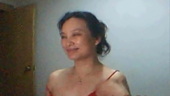 Mimi from Shanghai contributes and shows on web camera