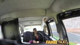 FakeTaxi Taxi car driver gets lucky carefully along with severely sizzling dame