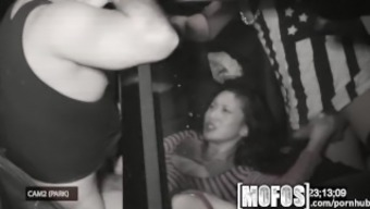 Mofos - Threesome with the use of Alina LI is wedged on camcorder