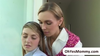 MILF Tanya makes completely love with the use of teenager Staci