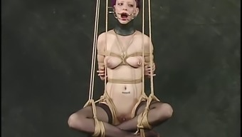 Inez gets attracted by the nipples and vocabulary in BDSM video files