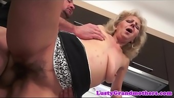Gran jizzed on hairypussy after intercourse