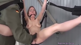 Hanged from the ceiling and fisted